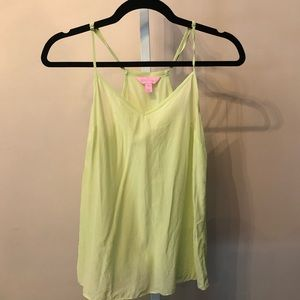 Lilly Pulitzer Silk Lime Green Halter Tank (XXS)